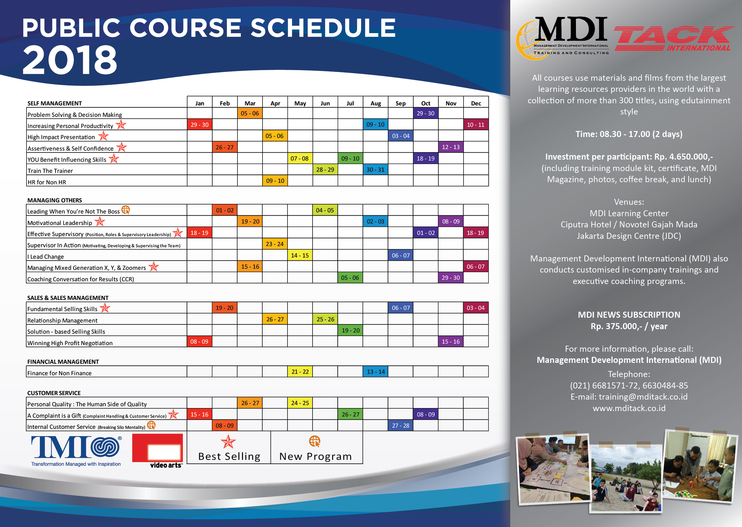 Jadwal Training 2018