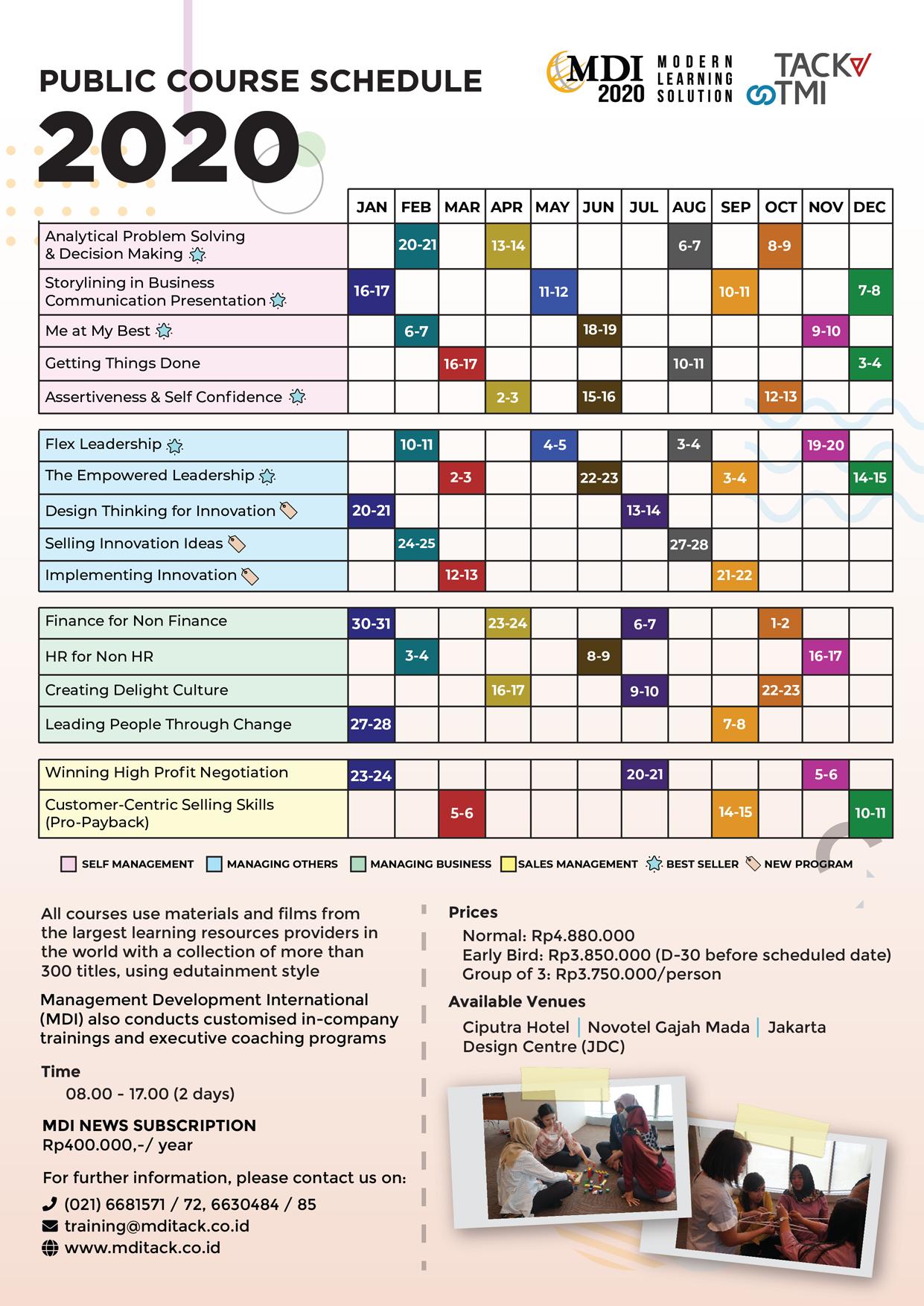 Jadwal Public Course 2020
