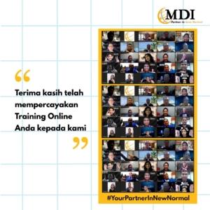 pelatihan online bersama MDI Training